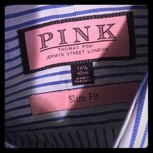 Thomas Pink London men's l/s b/d shirt NWOT
